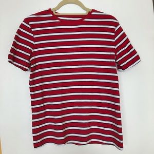 3/$30 White Stag red and white stripe shirt small